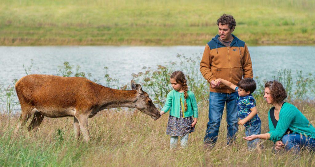 Famille d'éleveurs de cerfs en France